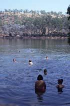 Ein erfrischendes Bad in Jack's Waterhole