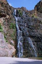 Der linke Wasserfall von den Twin Falls
