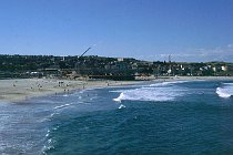 Bondi Beach mit dem Beachvollyballstation