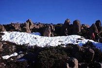 Schnee am Mt.Wellington