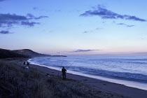 Küste im letzten Tageslicht