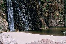 Sandstrand an den Twin Falls